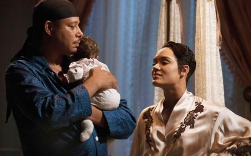 "EMPIRE: Pictured L-R: Terrence Howard and Grace Gealey in the ""One Before Another"" episode of EMPIRE airing Wednesday, Nov. 2 (9:00-10:00 PM ET/PT) on FOX. ©2016 Fox Broadcasting Co. CR: Jean Whiteside/FOX"